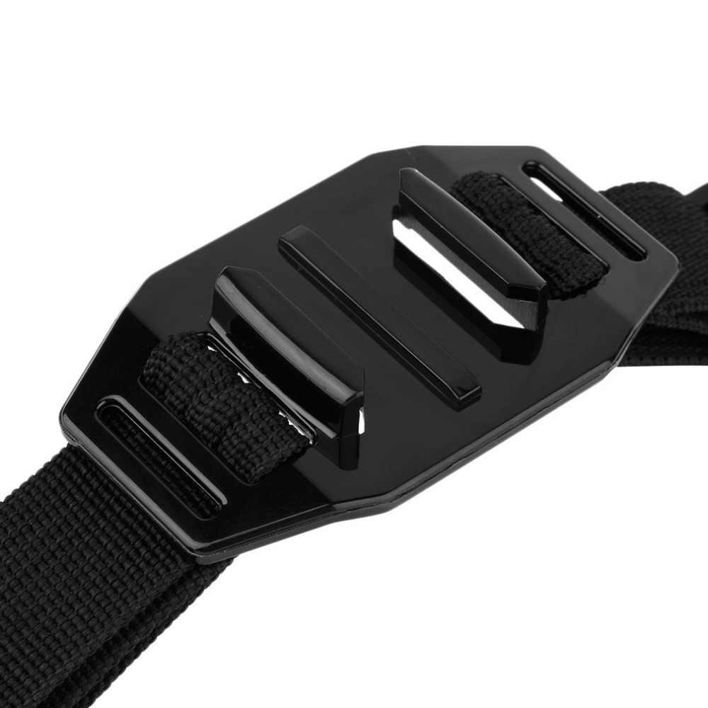 Новый черный вентилируемый Регулируемый головной шлем ремень Go Pro держатель адаптер для спорта Gopro HD Hero 1 2 3 камеры аксессуары
