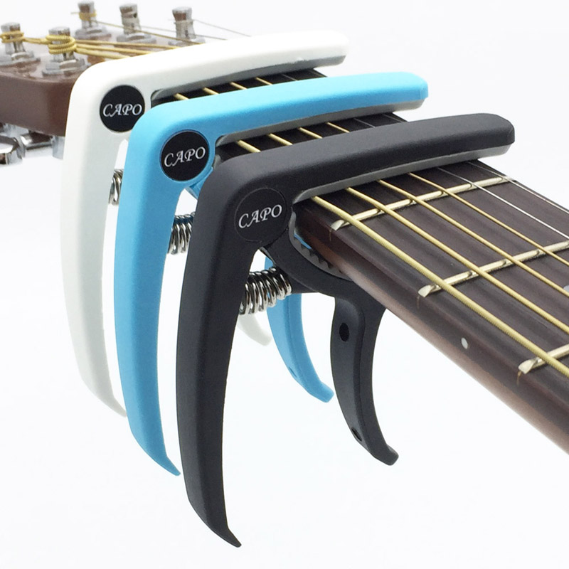 SLOZZ Plastic Guitar Capo for 6 String Acoustic Classic Electric Guitarra Tuning Clamp Musical Instrument Accessories wood guitar adjustment clip brand new ma 12 capo 6 string acoustic guitar capo zinc alloy for acoustic electric guitars 4 colors
