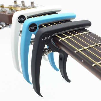 Plastikinės gitaros kapo 6 stygų akustinei klasikinės elektrinės gitaros derinimo spaustuko muzikos instrumentų priedams