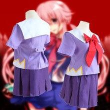El diario de futuro mirai nikki gasai yuno cosplay disfraces cosplay coat + dress anime