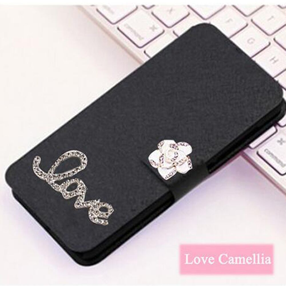 High Quality Luxury PU Leather Flip silicone back Cover Case