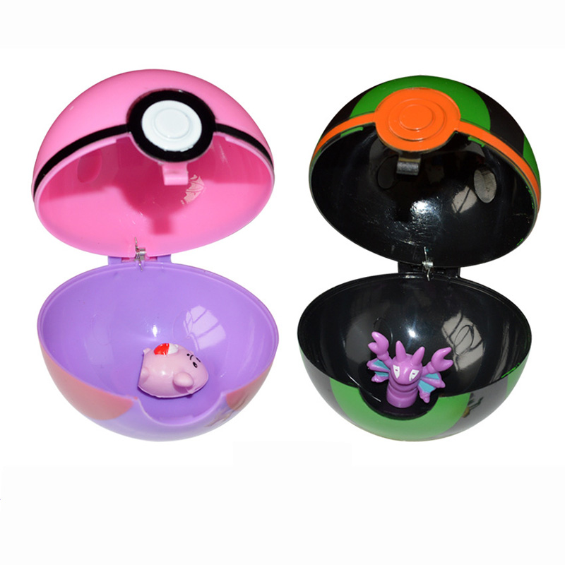 Multicolor PokeBall Set Toys Pet pokebolas Poke Action Figure Pikachu Charmander Squirtle Charizard figure Stickers Game Ball