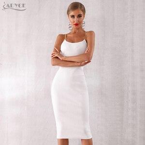 Image 4 - Женское облегающее платье Adyce, Клубное платье на тонких бретельках, вечерние платья знаменитостей, лето 2020