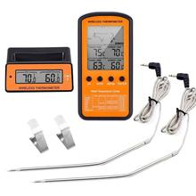 DTH-106 barbecue baking sugar food thermometer, wireless receiving double probe electronic thermometer