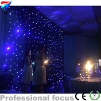 3mx6m 3 6 Led Star Curtain For Nightclub Stage Wedding Backdrops Led Star Cloth Decoration Fireproof