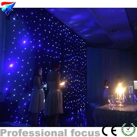 Free Shipping 4*6m Led Star Curtain For Nightclub Stage Wedding Backdrops Led Star Cloth Decoration FireproofFree Shipping 4*6m Led Star Curtain For Nightclub Stage Wedding Backdrops Led Star Cloth Decoration Fireproof