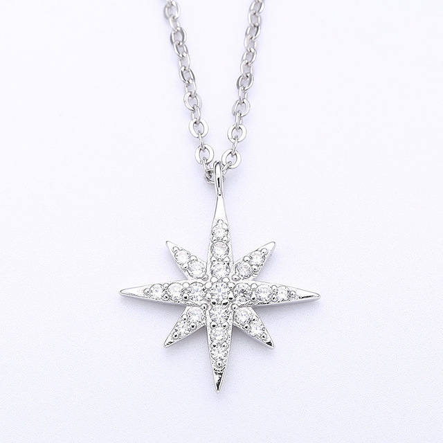 Европа APM Ожерелья Известная Марка Стерлингового Серебра 925 Большая Звезда Давида Micro Вставить Кристалл Ожерелье Для Леди Колье