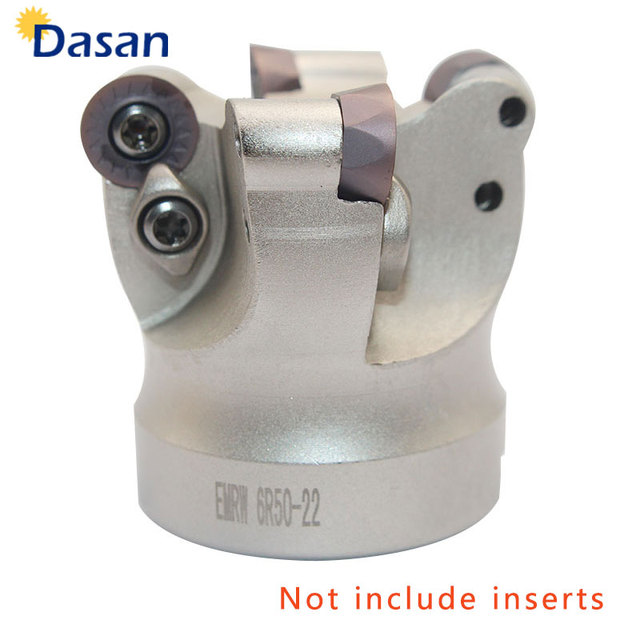 1pc EMRW 6R 50 22 Gezicht Mill Indexeerbare Frees Houder CNC Draaibank Machine Tool voor RPMT1204 Ronde Inserts
