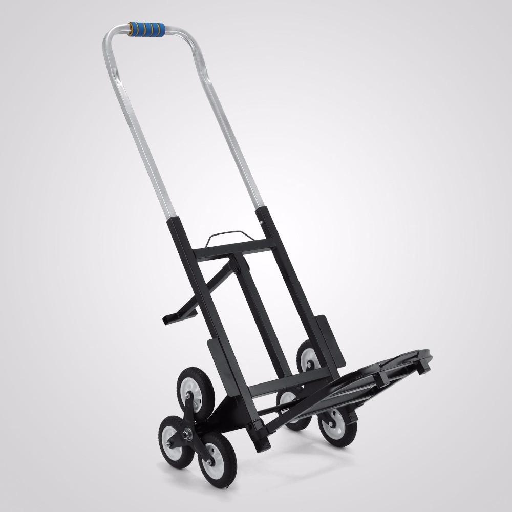 Escalade d'escalier, chariot à main pliant à Six roues 190kg 6 roues escalade d'escalier chariot main chariot escalade chariot plat camion
