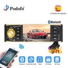 Podofo 1 Din автомагнитола 4 »TFT экран аудио стерео MP3 аудио плеер Автомобильный радиоприемник с Bluetooth пульт дистанционного управления USB FM In-dash 1din аудио