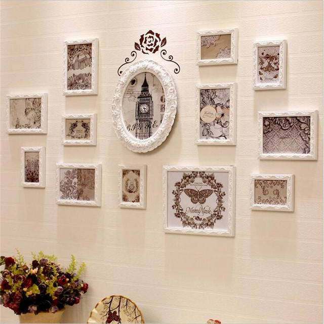 Photo Frame Luxury Creative Photo Frame set wood Europe Wood Grain ...
