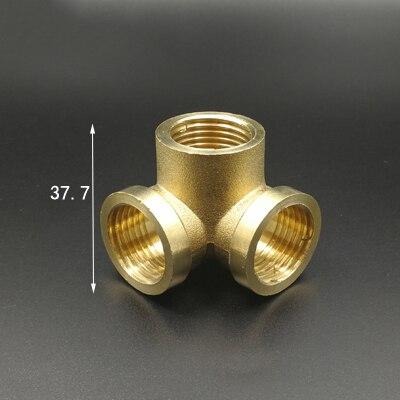 Heimwerker Schlussverkauf 1/2 bsp Innengewinde Ecke Typ 3 Messing Pipe Fitting Adapter Koppler-verbindungs 100% Original Sanitär