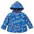 Девочка-Бабочка Верхняя Одежда Дети Зимой С Капюшоном Ветровка Детская Бабочка Печати Пальто