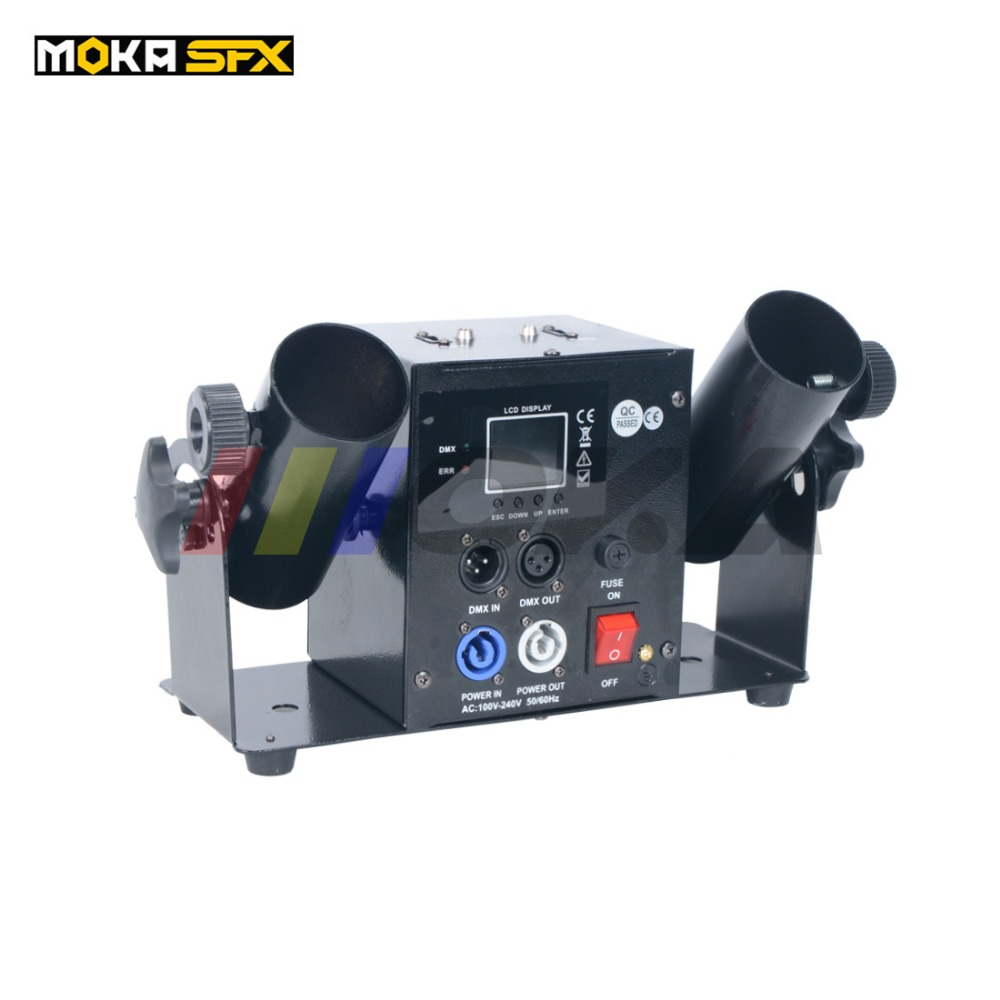 Double Shot Streamer Launcher Confetti Machine DMX512 & Remote Control Wedding Machine Confetti Cannon Stage Christmas Show