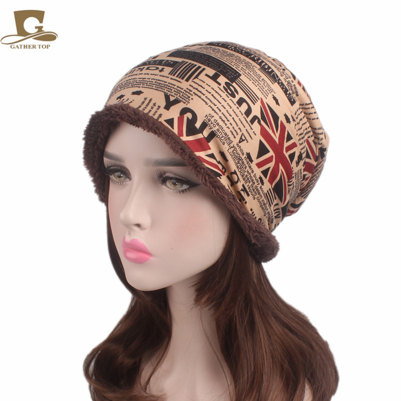 Free Shipping Unisex Men Women Retro Loose Baggy Winter Beanie Knit Skull Cap Thick Villi Lined Ski Cap hot winter beanie knit crochet ski hat plicate baggy oversized slouch unisex cap