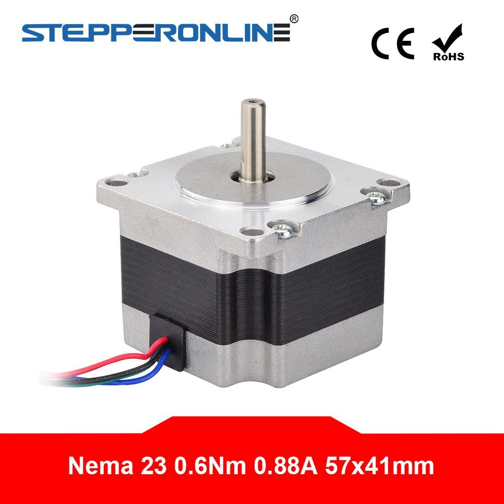 Small Current Nema 23 Stepper Motor 0.88A 0.6Nm(85oz.in) 57x42mm 6.35mm Shaft Nema23 Step Motor 4-lead for CNC 3D Printer