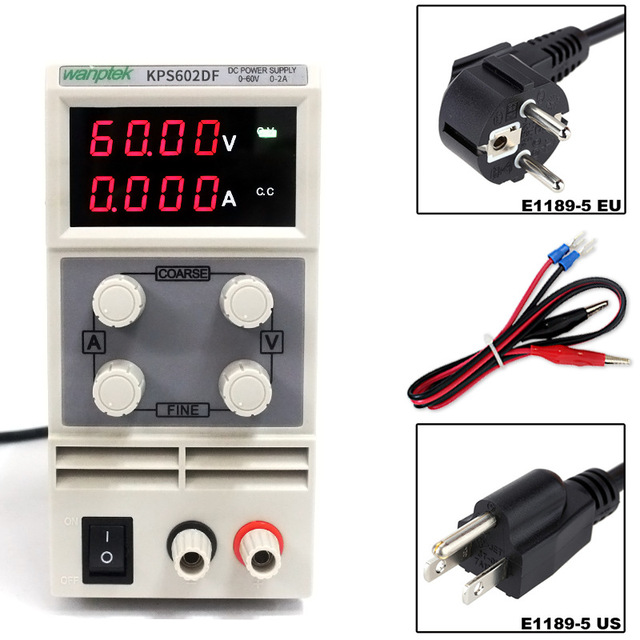 60V 2A DC Regulated Power High Precision Adjustable Supply Switch Power Supply Maintenance Protection Function KPS602DF