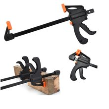 HS Tools Quick Grip 4-Inch Ratchet Bar Clamp Clip Kit Spreader Gadget Tool DIY Hand Woodworking F Clamp(China)