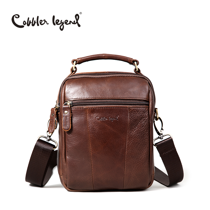 Cobbler Legend Original Genuine Leather Crossbody Bag Men 2018 New Cowhide Travel Messenger Shoulder Bags For Men's Business Bag цена