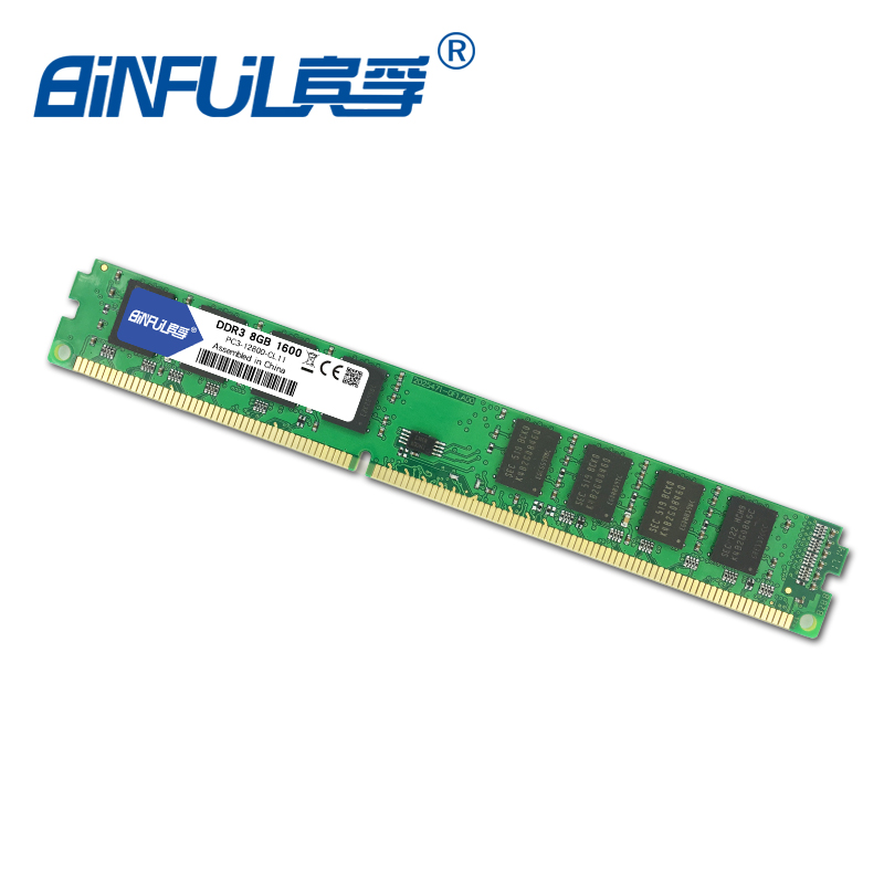 Binful DDR3 PC3 12800 8GB 1600mhz for Desktop RAM Memory 240pin compatible with Desktop for Intel