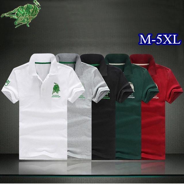 Новый Бренд Весна Лето Мужчины Рубашки Поло Мода Повседневная Классический Хлопок мужская С Коротким рукавом Рубашки Поло размер 5 цвета PlusSize M-5XL