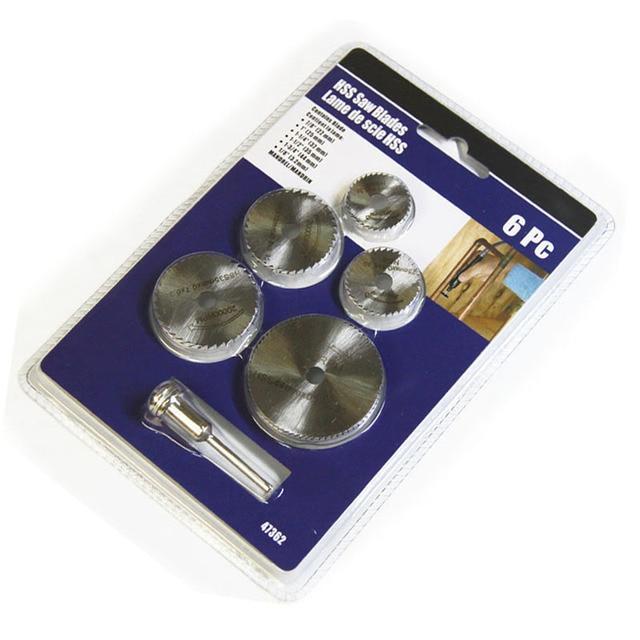 6pcs HSS Mini Circular Saw Blades Mini Drill Wood Cutting Discs Drill Cutter for Dremel Rotary Tool Accessories Set