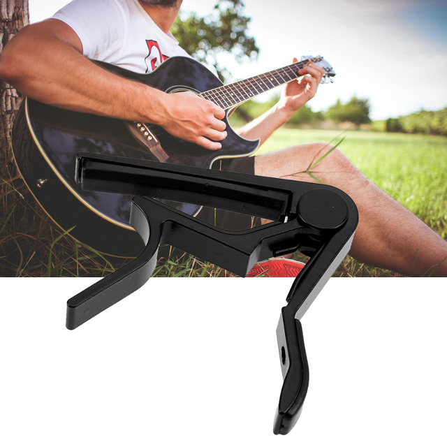 Guitar Accessories Aluminum Alloy Guitar Tuner Clamp Professional Key Trigger Capo for Acoustic Electric Musical Instruments 1