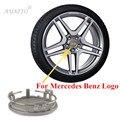 4 unids 75mm Para Mercedes Benz w124 w202 w203 w204 w211 w210 cla w212 w220 Insignia del Emblema Del Centro de Rueda Hub Caps Cubierta Llanta tapas