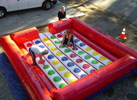 Giant commercial rental game inflatable twister mat inflatable twister mattress