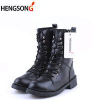 2017 PU Leather Women Boots Winter Warm Shoes Botas Feminina Female Motorcycle Ankle Fashion Boots Women