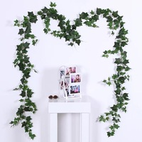 10PCS 1.8M simulation ivy evergreen planting cane wedding arch decoration festival home garden plant wall photography props
