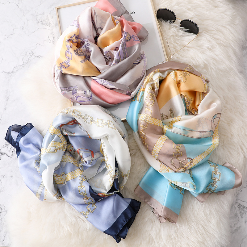 Chain Spring and Winter Scarf Female Hundred Sets Warm Silk Shawl Multi functional New Korean Edition Neck Wholesale in Women 39 s Scarves from Apparel Accessories