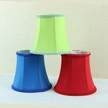 Красный, синий, зеленый современный свет лампы с лампой ткань оттенков, люстра мини-абажур современный, клип на