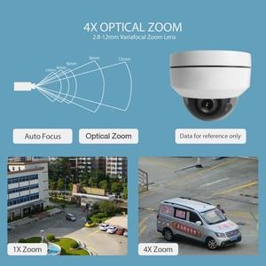 Image 2 - Minicâmera de segurança ptz externa, super minicâmera hd 1080p/5mp dome à prova d água, 2mp cctv, câmeras ptz 4x ótica lente de zoom ir 20m p2p,