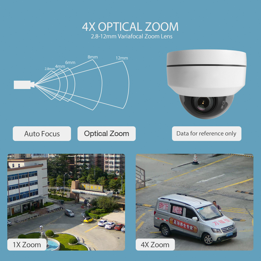 Image 2 - Super Mini PTZ IP Camera HD 1080P / 5MP Dome Outdoor Waterproof 2MP CCTV Security PTZ Cameras 4X Optical Zoom Lens IR 20M P2P-in Surveillance Cameras from Security & Protection