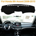 2016 car styling poliéster sombra protectora dashboard mat cojín pad photophobism alfombra interior para honda 8th accord2008-2013