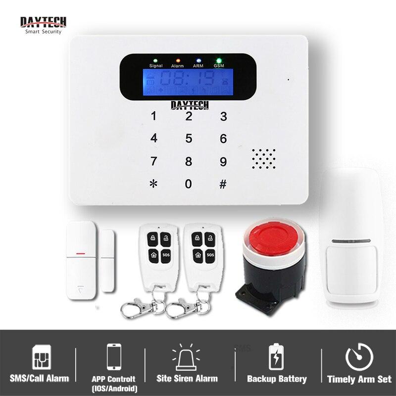 DAYTECH GSM Alarm System Home Security Burglar Alarm System DIY Kits Autodial Siren Sensor Alert PIR Detect Remote APP Control