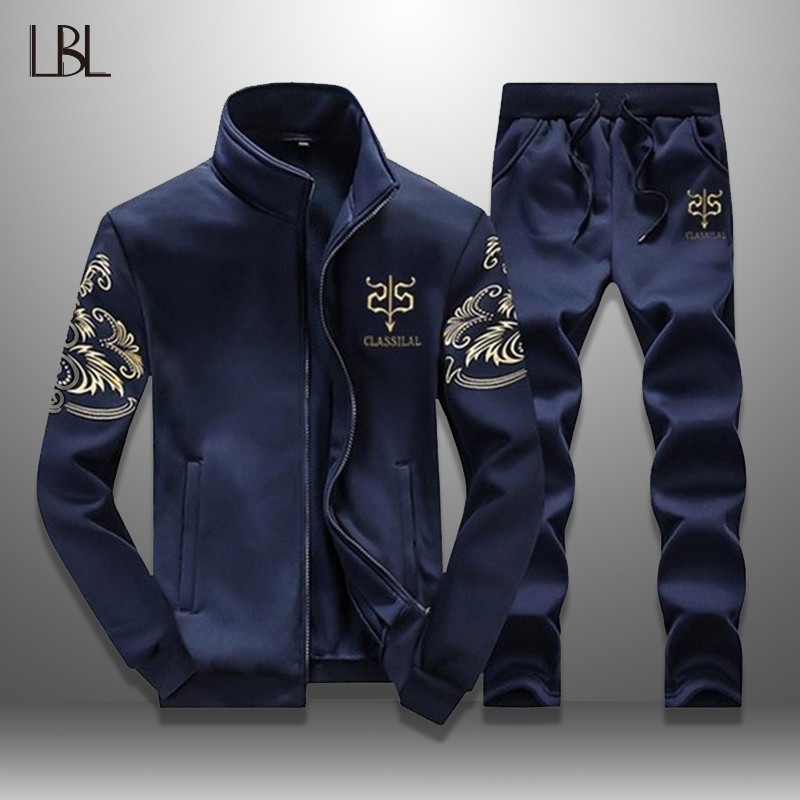 LBL Men's Hoodie Set Casual Tracksuit Men Sportswear Mens 2 Piece Sweat Suits Fashion Man Tracksuits Autumn Spring Brand Clothes