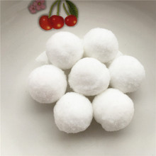 50pcs Approx 30mm White Pompom Fur Craft DIY Soft Pom Poms Balls Wedding/Home Decoration Sewing On Cloth Accessories