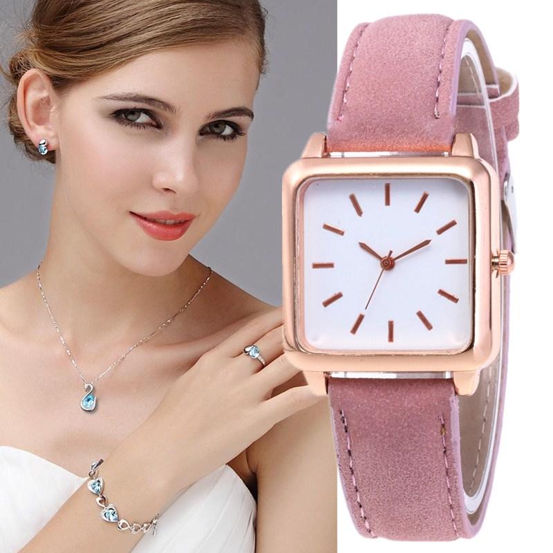 Watch Women Fashion 2019 New Design Women Watch Luxury Trendy Rose Gold Leather Quartz Small Dial Ladies Watch Relogio Feminino