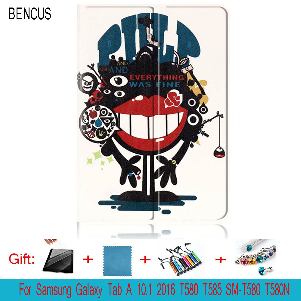 BENCUS PU Leather Case Samsung Galaxy Tab A A6 10.1 2016 T580 T585 T580N SM-T580 Cover Cases Funda Tablet Flip Stand Smart Shell