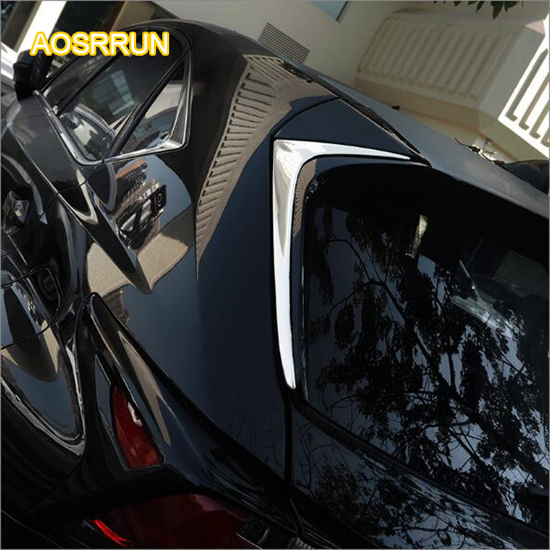 AOSRRUN rear triangle after the window decoration light The tail decorations Suitable COVER for Lexus NX200T NX200 NX300H aosrrun decorative cover control transmission stainless steel sequins modification is suitable for the for lexus ct200h