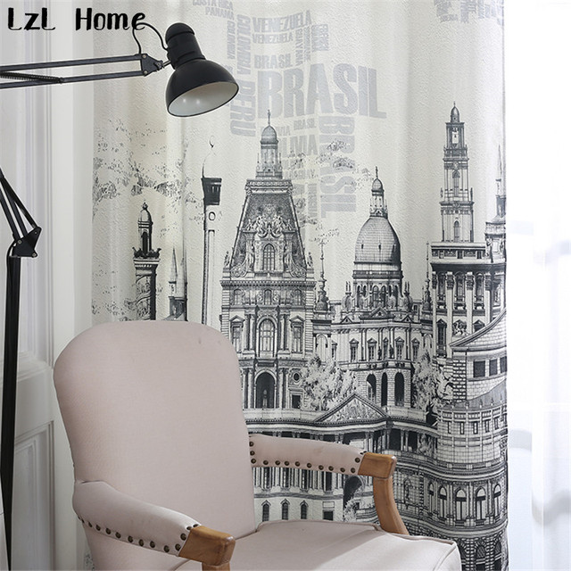 living room curtains for sale red sectional lzl home european castle fashion fabric 3d hotel blackout hot ready made window decoration