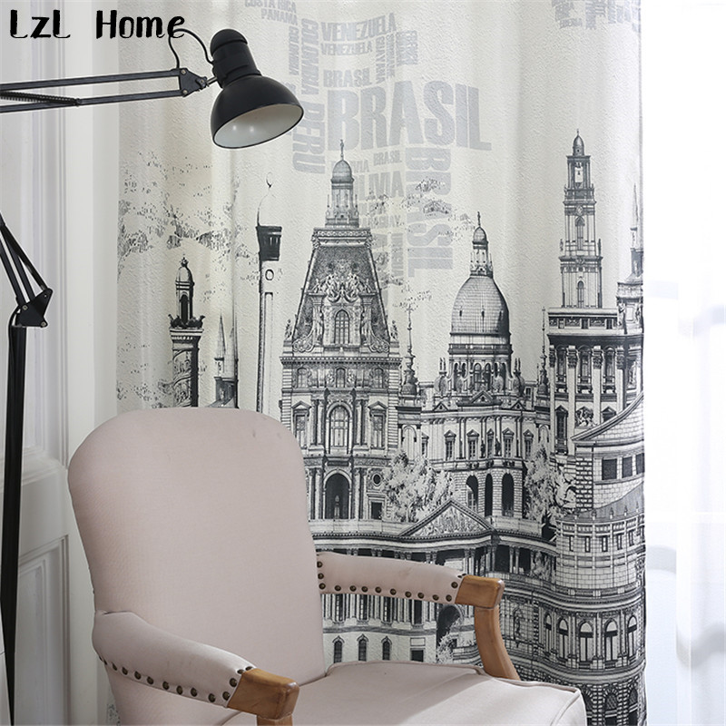 LzL Home European Castle Living Room Curtains Fashion Fabric 3d Hotel Blackout Hot Sale Ready