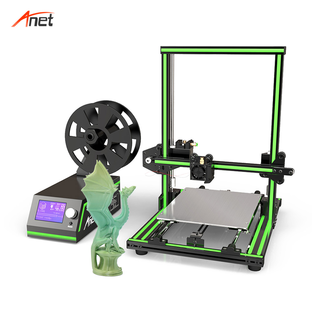 Anet E10 Aluminum Frame Multi language 3D Printer Support SD card Impressora 3d DIY Set LCD