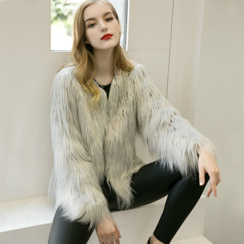 Chic Soft Faux Fur Coat 8