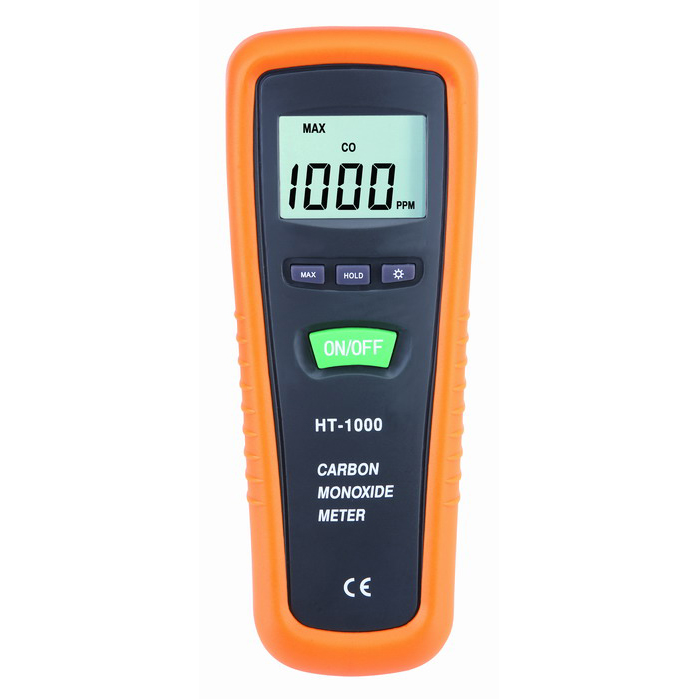 Free shipping HT-1000 Portable Handheld Digital LCD CO monitor CO meter CO gas detector Carbon Monoxide Meter CO gas analyzer