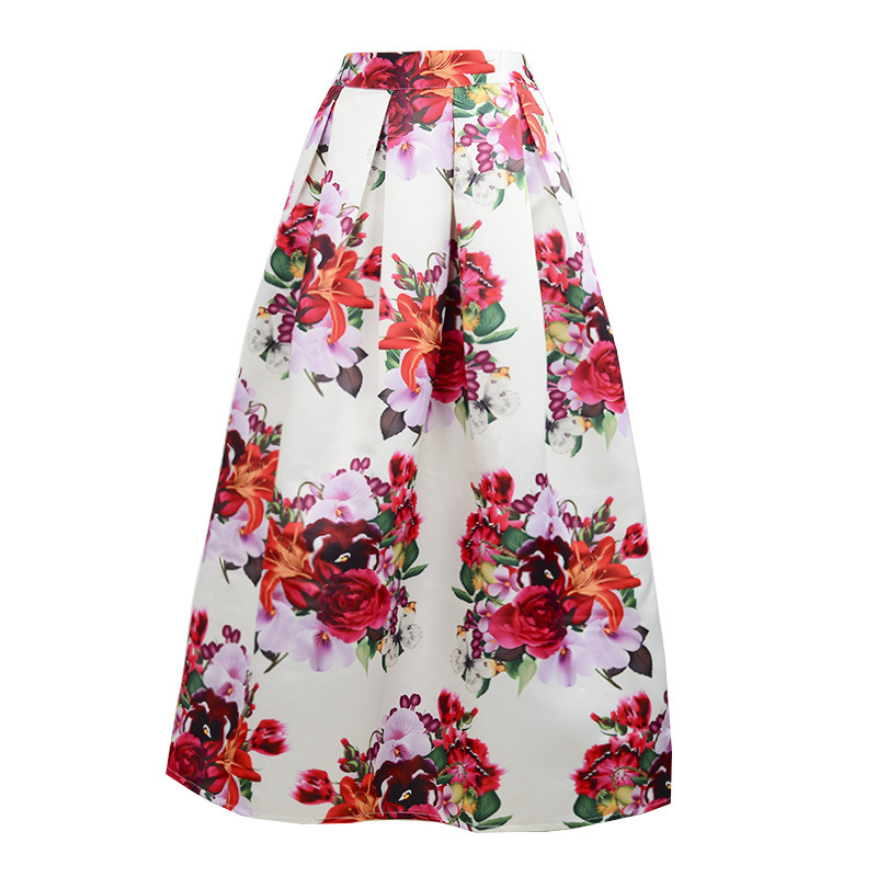 Women Long Skirt Flower Promotion-Shop for Promotional Women Long ...