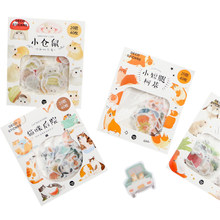 40pcs/pack Kawaii Animal series sticker label Stickers Scrapbooking Self-adhesive Stickers DIY Decoration Diary Stickers(China)