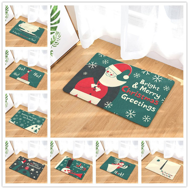 Christmas Mats New Home Decor Christmas Carpets Non Slip Kitchen